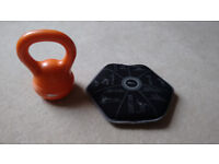 Kettle Bell 2.5kg & 5Kg Soft Gravel Type Fill Weight Disc
