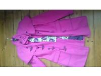 Ted Baker size 1 (8) pink duffle coat EXC con