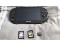Psp vita slim with 3 games