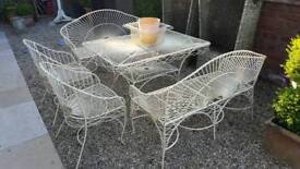 Wire Garden Table and Chair set