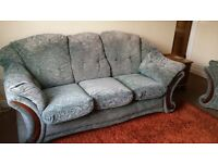 2 and 3 seater Green Sofa.