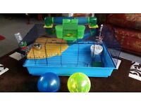 Hamster Heaven Deluxe Cage/ Accessories - Great Package