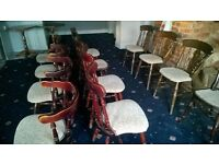 12 assorted pub chairs