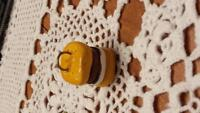 Hand made clay smores charm