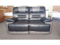 ScS Venus Black/Grey 2 Seater Manual Recliner Sofa Can Deliver View collect Hucknall Nottingham