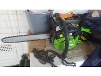 Chainsaw in great condition, only used a hand full of times