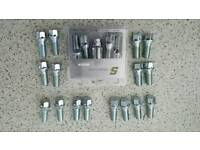 Audi A4 S4 locking wheel bolts (4) with 16 standard wheel bolts.