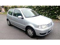VW Polo 51 Reg. 2001 1.4 3 Door Silver 93,000 Regularly Well Maintained, MOT to Feb. 2017.