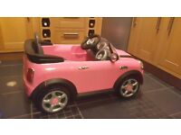 Mini Cooper Pink - 6V Electric Car- hardly used