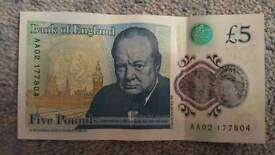 AA02 £5 note