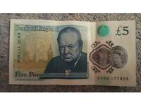 AA02 and AA40 £5 notes