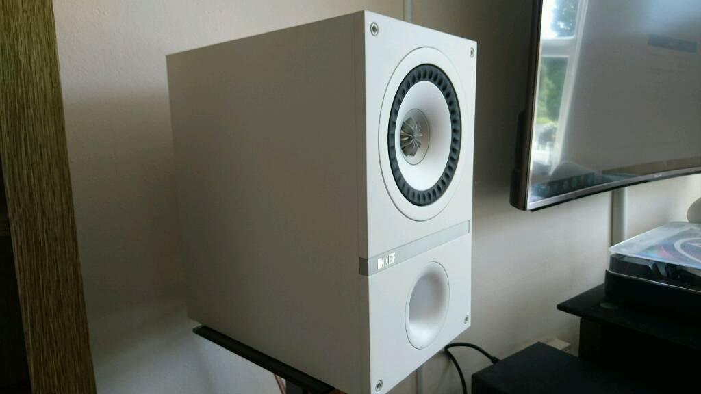 kef q100. kef q100 white rare bookshelf speakers hifi y