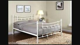 Cream double size bed frame