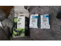 HP 301 ink cartridges black and tri-colour unopened