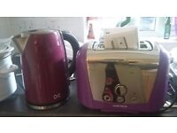 Morphy Richards toaster and kettle