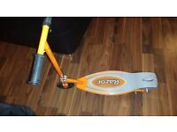 Hi selling my son's razor scooter as he as only been on it a hand full of times it is in v.good con