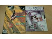 2 X Calligraphy & Hand Writing Books