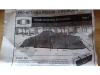 Pro action 6 man tent. Used once. Blue 2 bedroom pods.