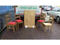 Mexican pine dining room table and 6 chairs £95
