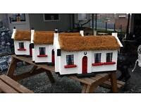 Wooden Irish cottages garden ornaments