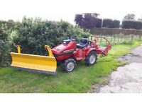 Honda compact tractor + snow plough and rotovator
