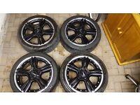 "Mini countryman alloy wheels tyres genuine john cooper works also fit bmw two piece split rims 18"""
