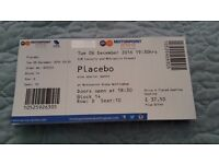Placebo tickets - × 2 - Tues 6th Dec 2016