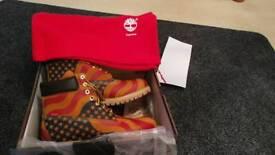 Supreme and timberland boots UK size 9.5