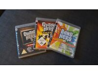 Band hero, Guitar hero 5, Guitar hero world tour for PS3
