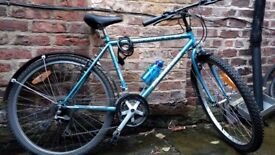 Mountain bike with new tyres and inner tubes