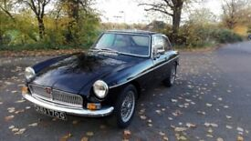 MG B GT 1969 coupe black original chrome bumper model