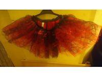 Mesh skull red and black skirt. One size, never worn