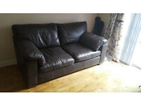 Marks & Spencer Brown Leather Suite