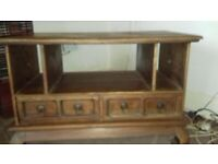 coffee table with draws