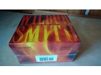 WILBER SMITH 8 boxed set. Un opened paper back books.