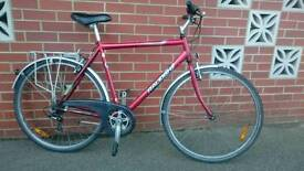 Raleigh Pioneer 120 gents hybrid city/town bike fully serviced perfect working order