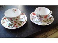 Dunoon Fine Bone China Teacups x 2