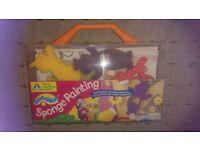 Teletubbies sponge painting