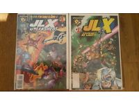 COMICS JLX UNLEASHED NO#1 1997 AND JLX IN THEIR OWN BOOK NO #1 1996