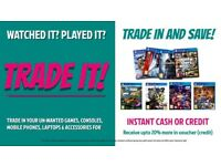 Unwanted Playstation 4, 3, Xbox 360, One Games Trade It! for £