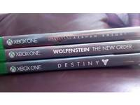 3 Xbox one games.