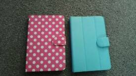 "2 x tablet cases pink & blue. To fit 7"" tablets"
