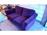 Purple Next 2 Seater Sofa