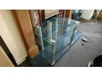 MUST GO! - Glass TV Stand
