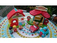 Happyland village postoffice and garage set ELC