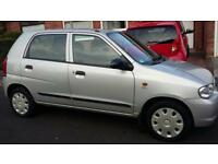 2005 SUZUKI ALTO GL 1.1engine, low mileage ,12 months MOT, 5 door hatchback