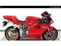 1997 Ducati 748s in excellent condition. Low mileage and fully serviced with belts