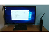 "Dell Optiplex 3020 m Micro Desktop computer PC Intel i5 with Acer 23"" LED monitor and desk"