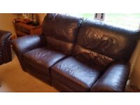 3 seater leather sofa fully electric recliner