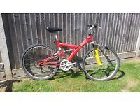 adults full suspension mountain bike